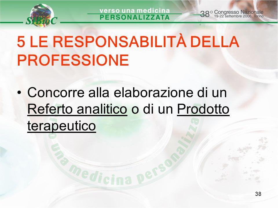 5 LE RESPONSABILITÀ DELLA PROFESSIONE