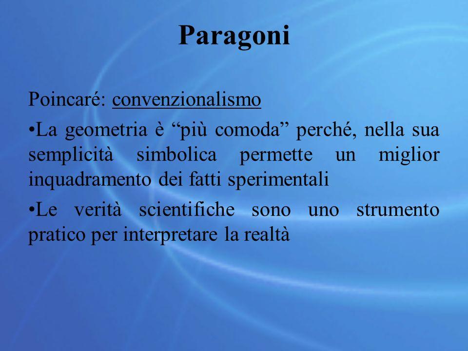 Paragoni Poincaré: convenzionalismo