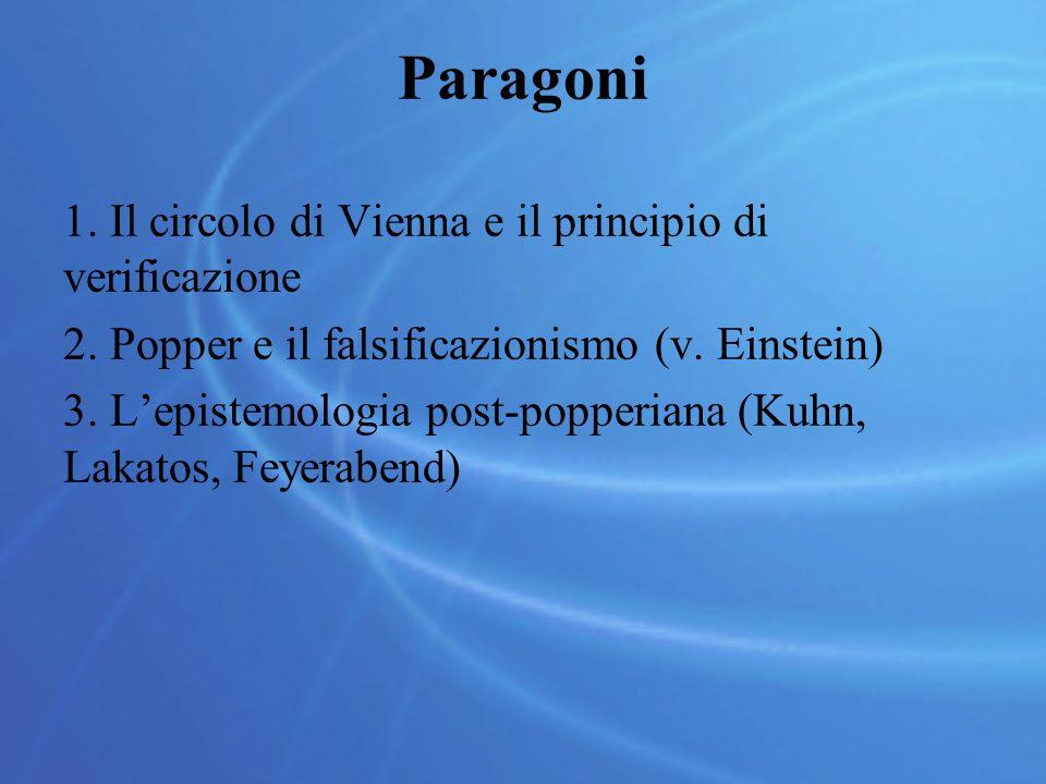 Paragoni Il circolo di Vienna e il principio di verificazione