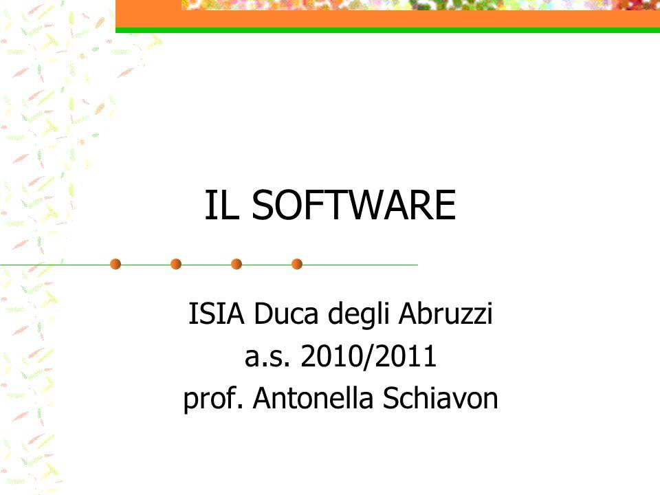 ISIA Duca degli Abruzzi a.s. 2010/2011 prof. Antonella Schiavon