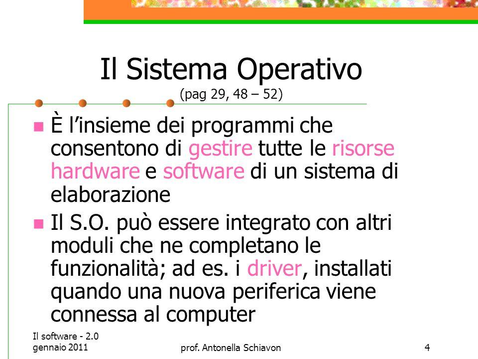 Il Sistema Operativo (pag 29, 48 – 52)