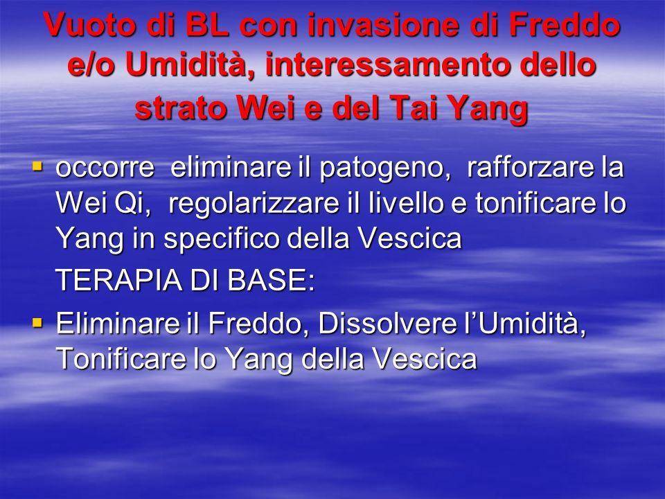 Vuoto di BL con invasione di Freddo e/o Umidità, interessamento dello strato Wei e del Tai Yang