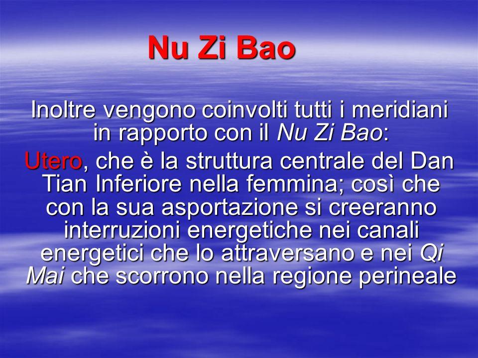 Nu Zi Bao Inoltre vengono coinvolti tutti i meridiani in rapporto con il Nu Zi Bao: