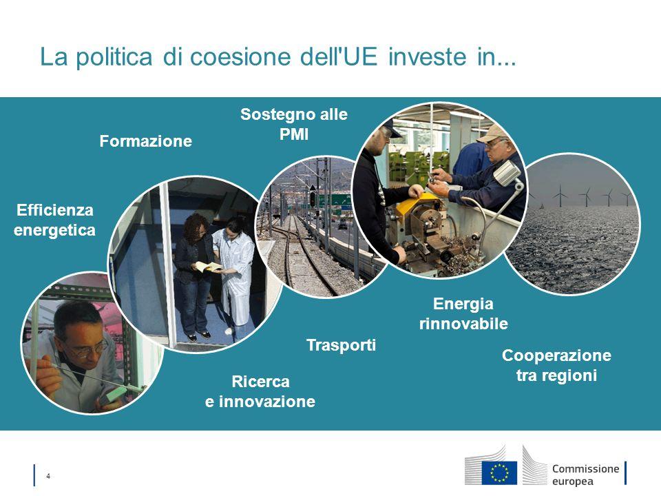 La politica di coesione dell UE investe in...