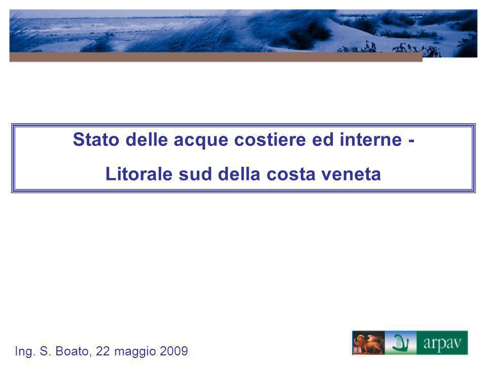 Stato delle acque costiere ed interne -