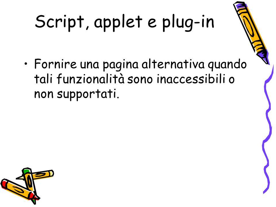 Script, applet e plug-in