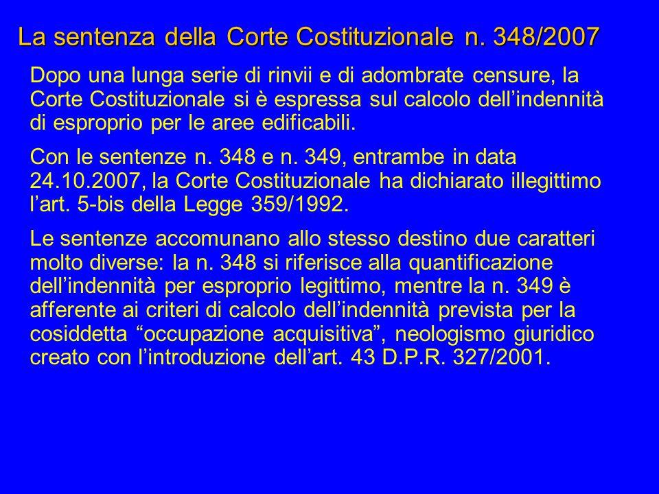 La sentenza della Corte Costituzionale n. 348/2007