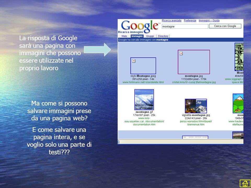 Ma come si possono salvare immagini prese da una pagina web