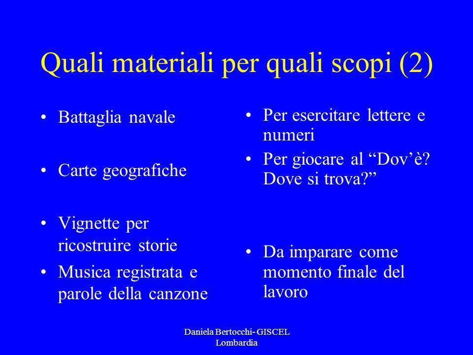Quali materiali per quali scopi (2)