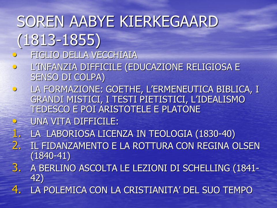 SOREN AABYE KIERKEGAARD (1813-1855)