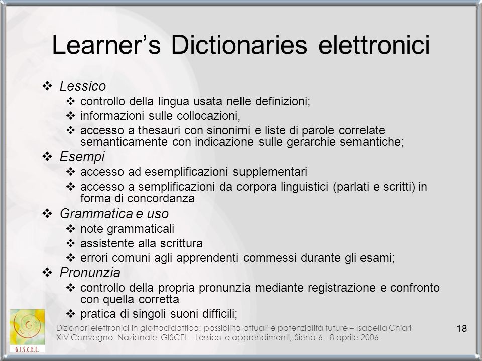 Learner's Dictionaries elettronici