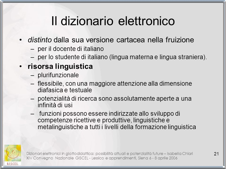 Il dizionario elettronico