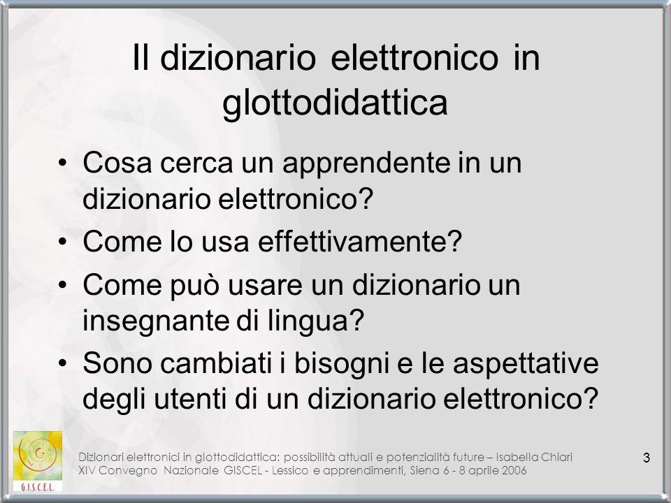 Il dizionario elettronico in glottodidattica