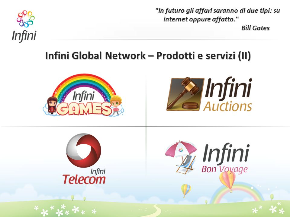 Infini Global Network – Prodotti e servizi (II)