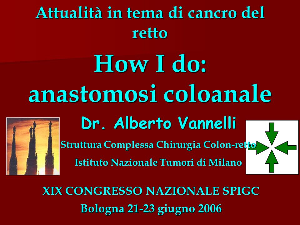 Attualità in tema di cancro del retto How I do: anastomosi coloanale