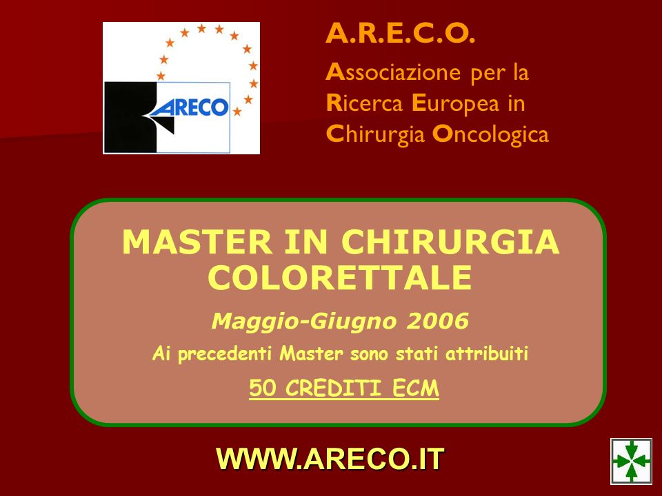 MASTER IN CHIRURGIA COLORETTALE