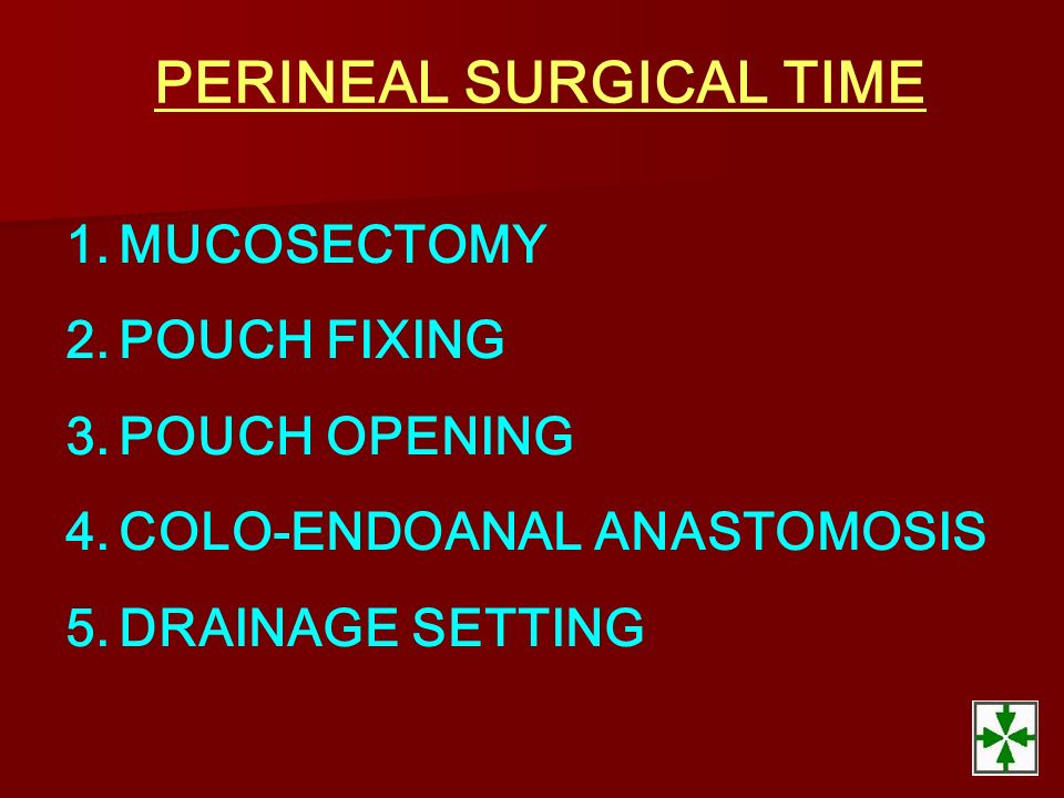 PERINEAL SURGICAL TIME