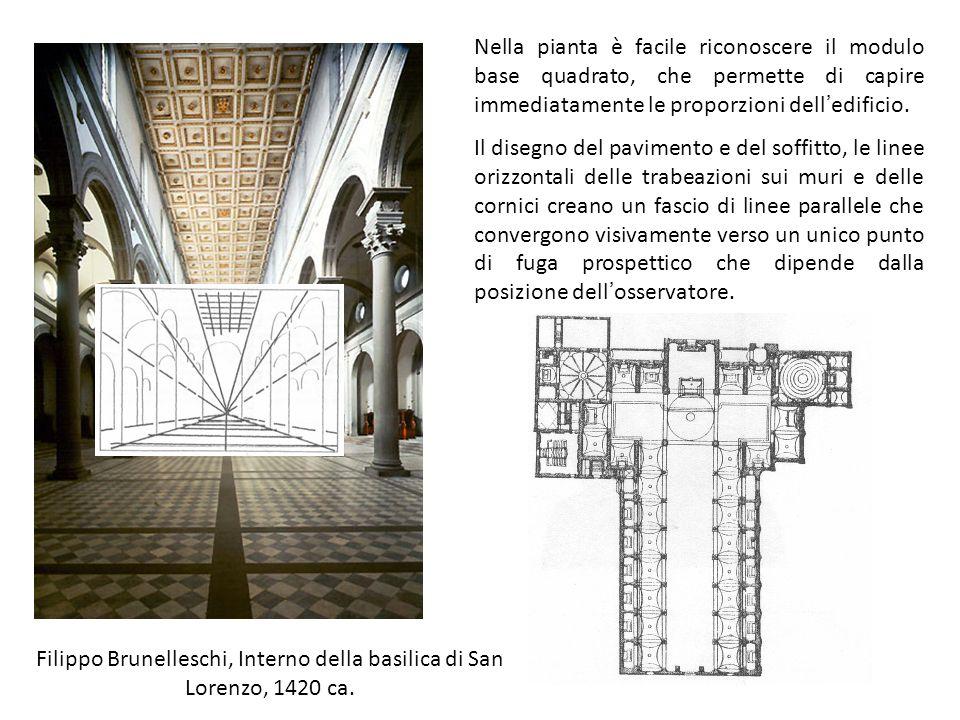 Filippo Brunelleschi, Interno della basilica di San Lorenzo, 1420 ca.