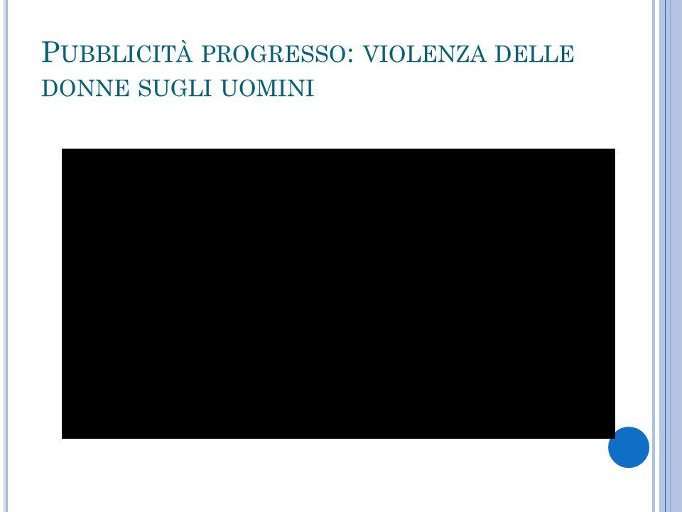 Pubblicità progresso: violenza delle donne sugli uomini