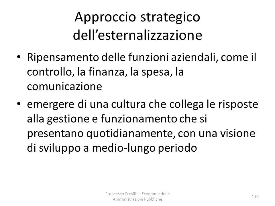 Approccio strategico dell'esternalizzazione