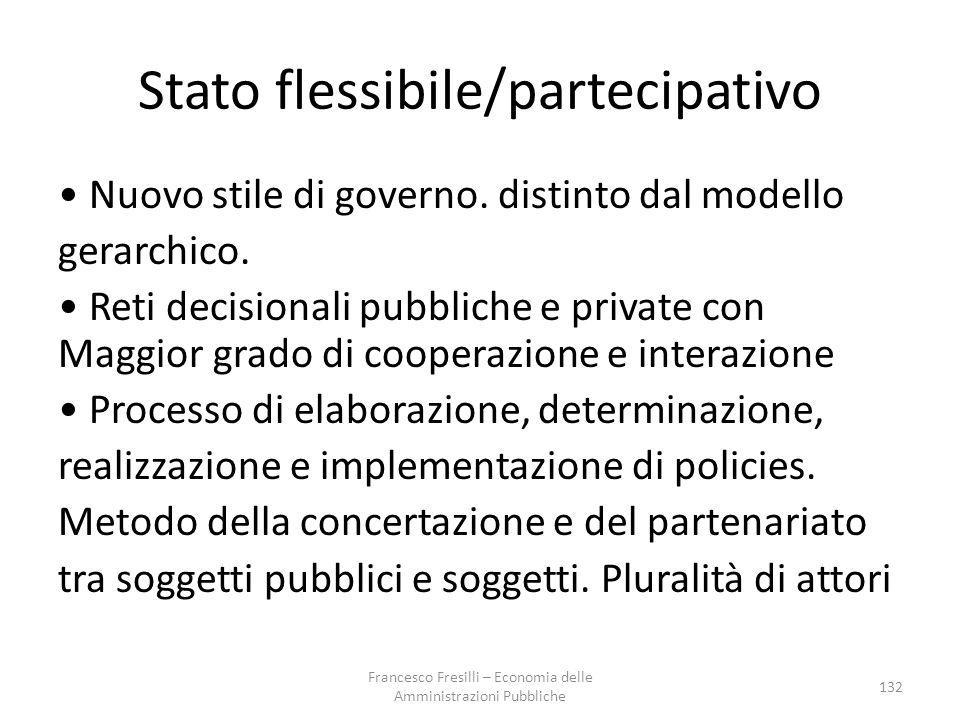 Stato flessibile/partecipativo