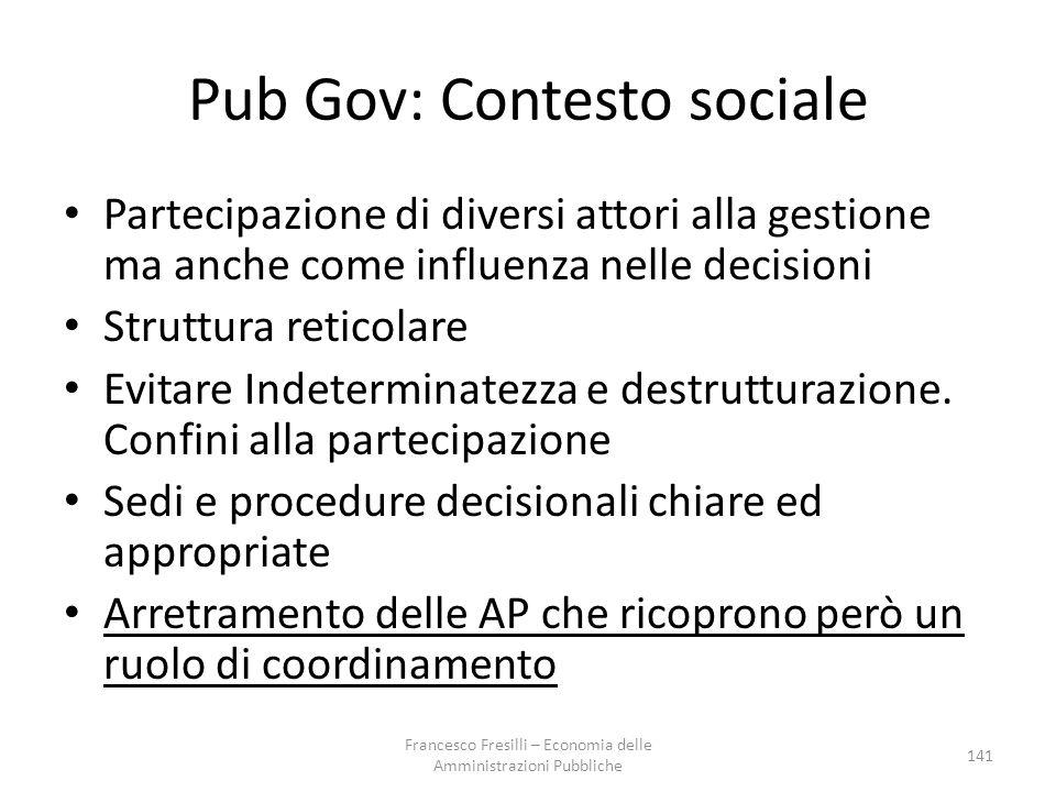 Pub Gov: Contesto sociale