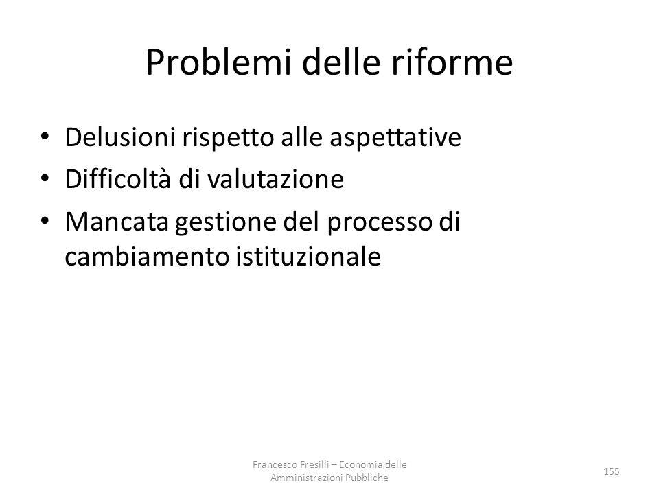 Problemi delle riforme