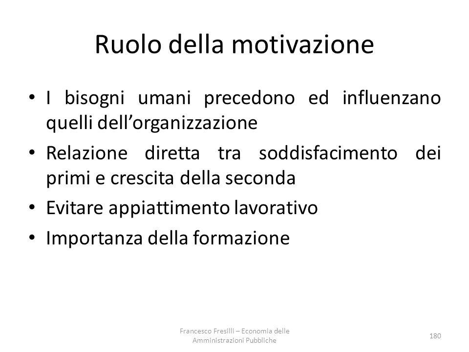 Ruolo della motivazione