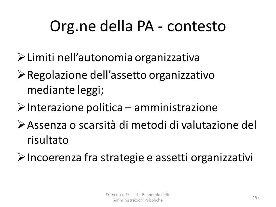 Org.ne della PA - contesto