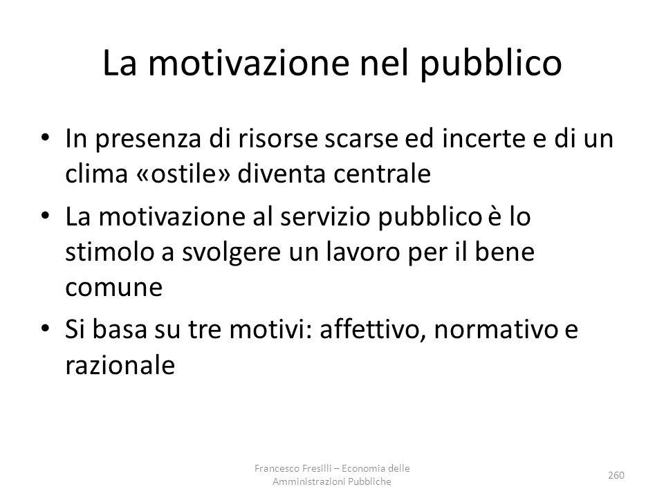 La motivazione nel pubblico