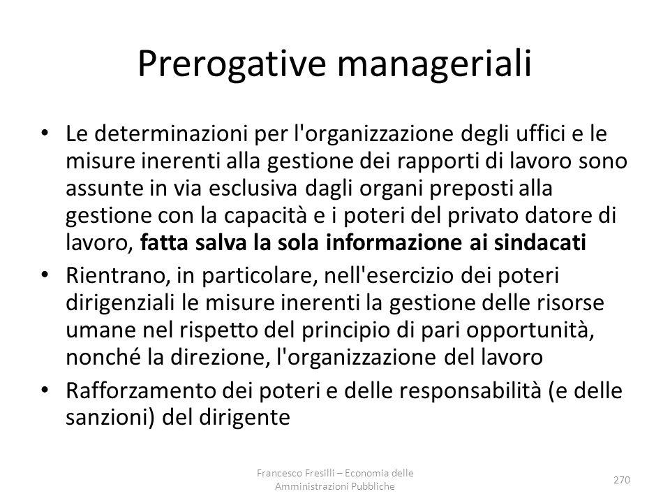 Prerogative manageriali