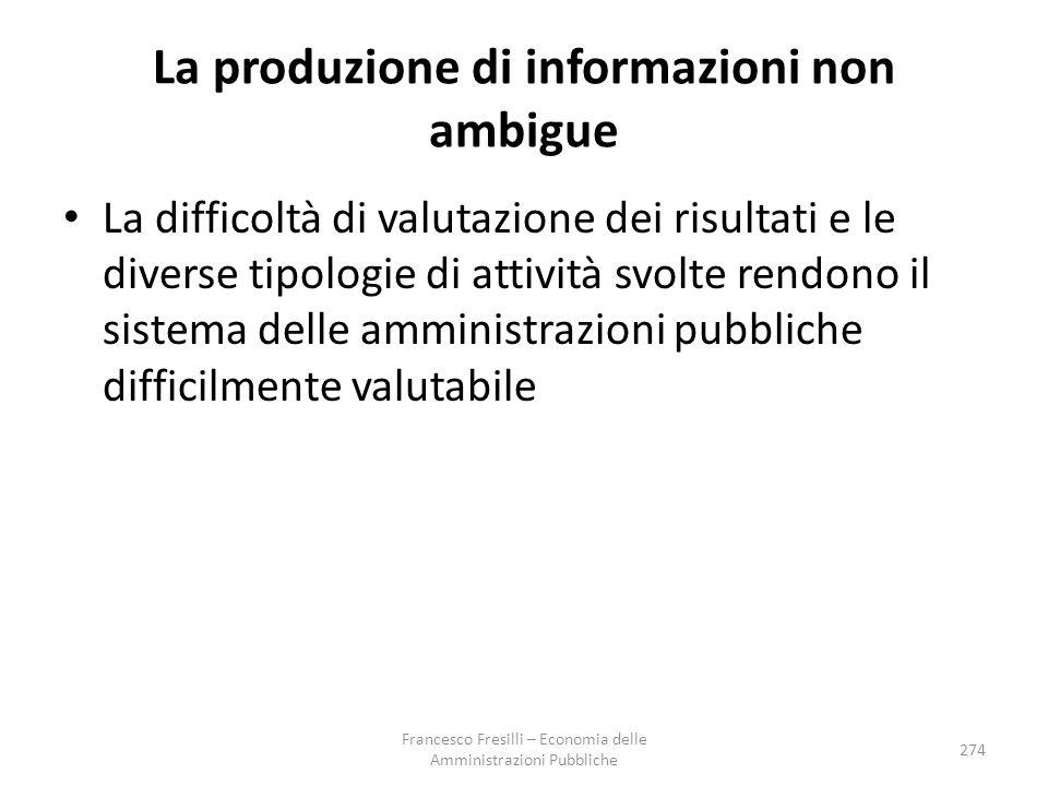 La produzione di informazioni non ambigue