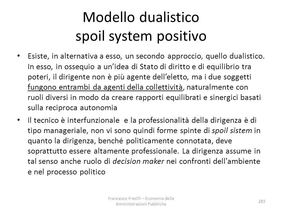 Modello dualistico spoil system positivo