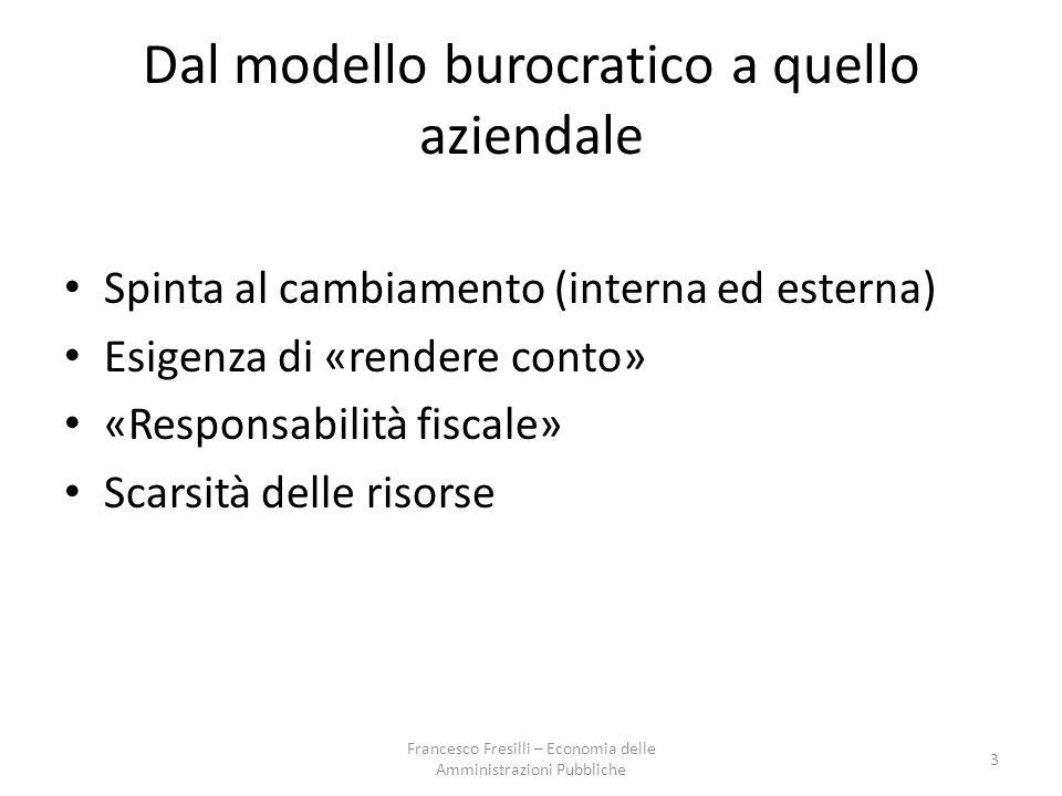 Dal modello burocratico a quello aziendale