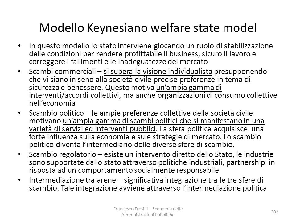 Modello Keynesiano welfare state model