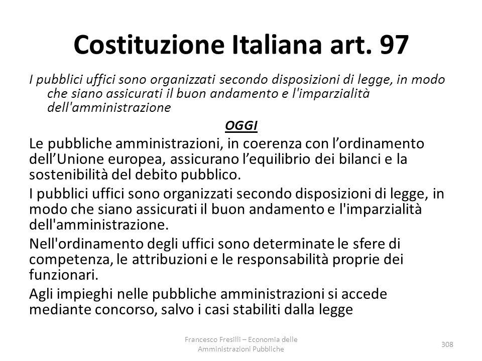 Costituzione Italiana art. 97
