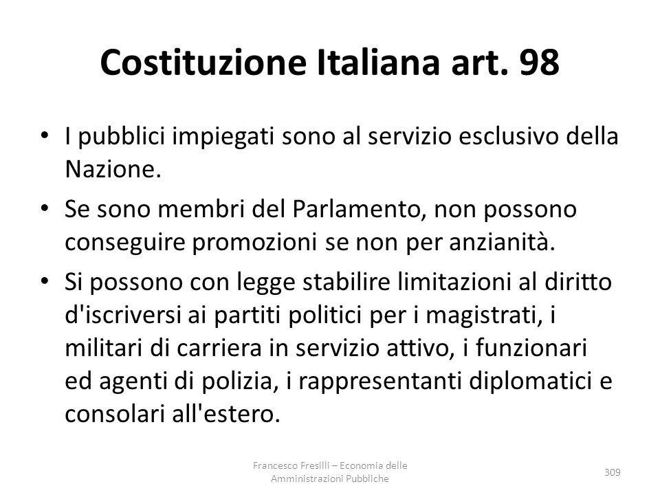 Costituzione Italiana art. 98