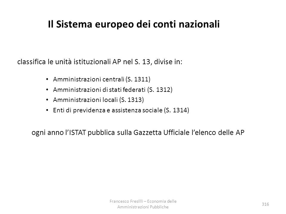 Il Sistema europeo dei conti nazionali