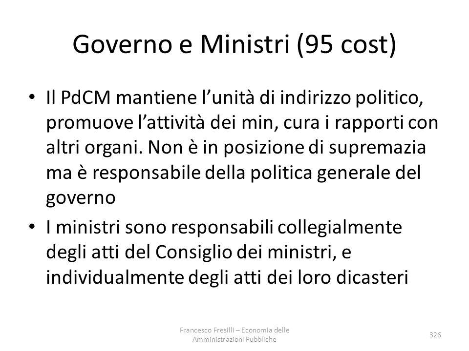 Governo e Ministri (95 cost)