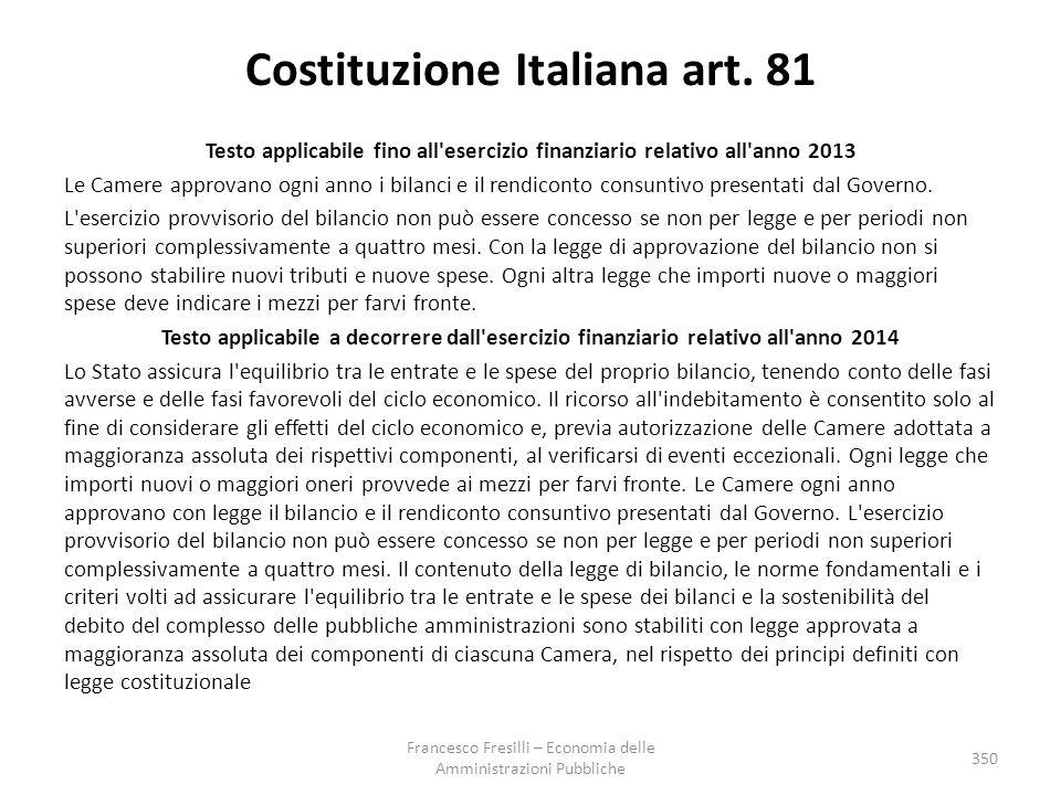 Costituzione Italiana art. 81