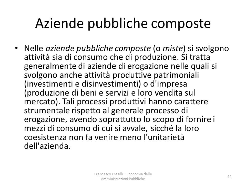 Aziende pubbliche composte