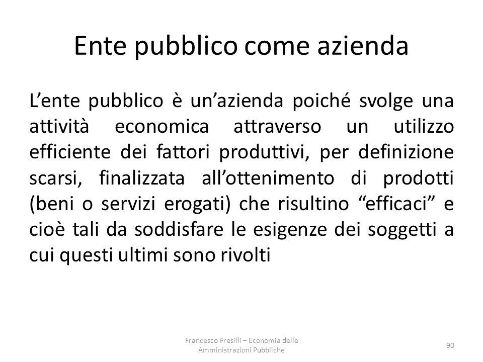 Ente pubblico come azienda