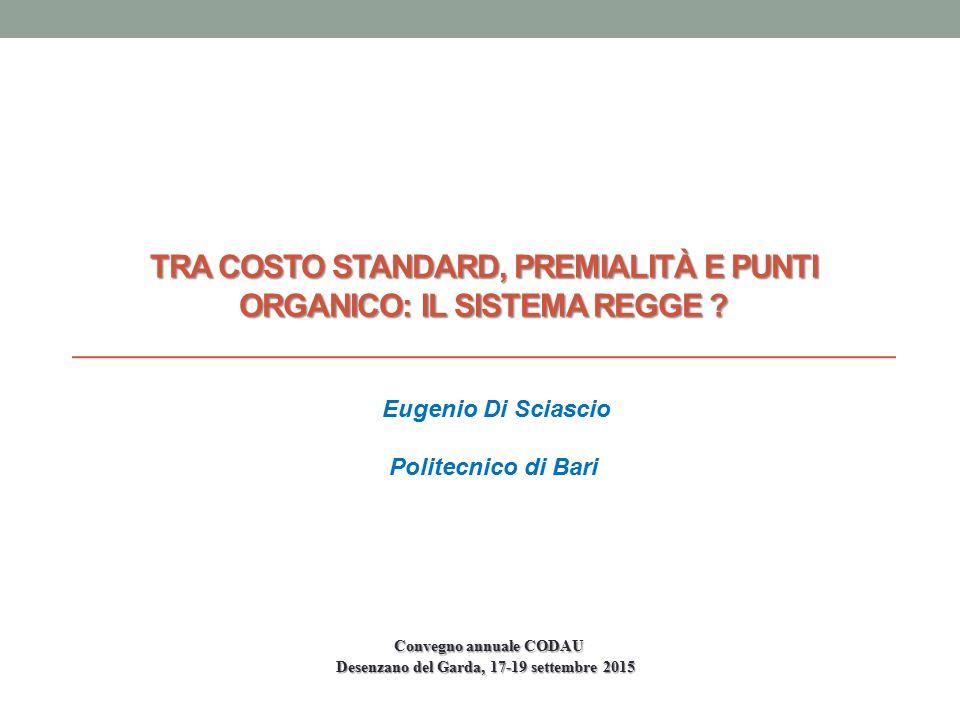 Tra costo standard, premialità e punti organico: il sistema regge
