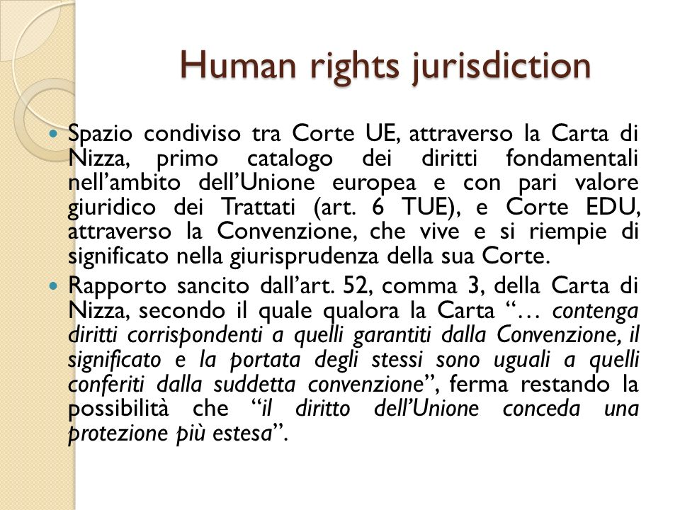 Human rights jurisdiction