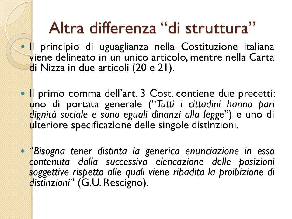 Altra differenza di struttura