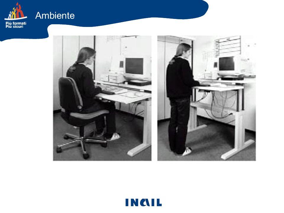 Ambiente e Postazione La ricerca della funzionalità operativa deve essere contemperata con il rispetto dell ergonomia,