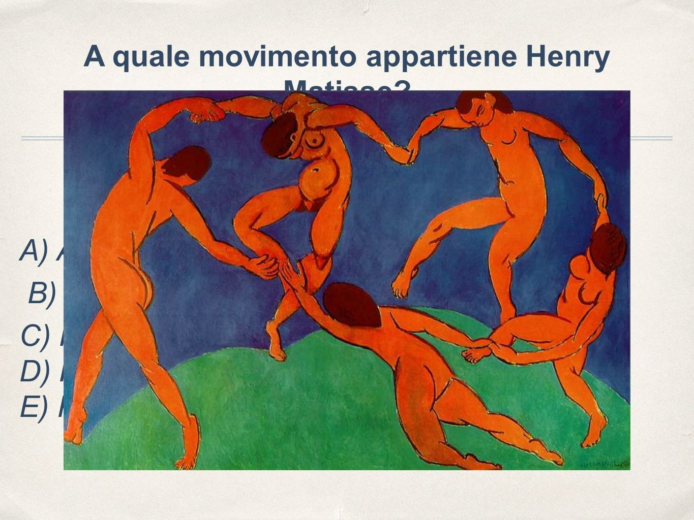 A quale movimento appartiene Henry Matisse