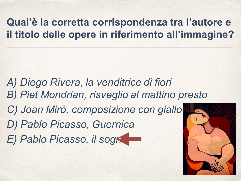C) Joan Mirò, composizione con giallo D) Pablo Picasso, Guernica
