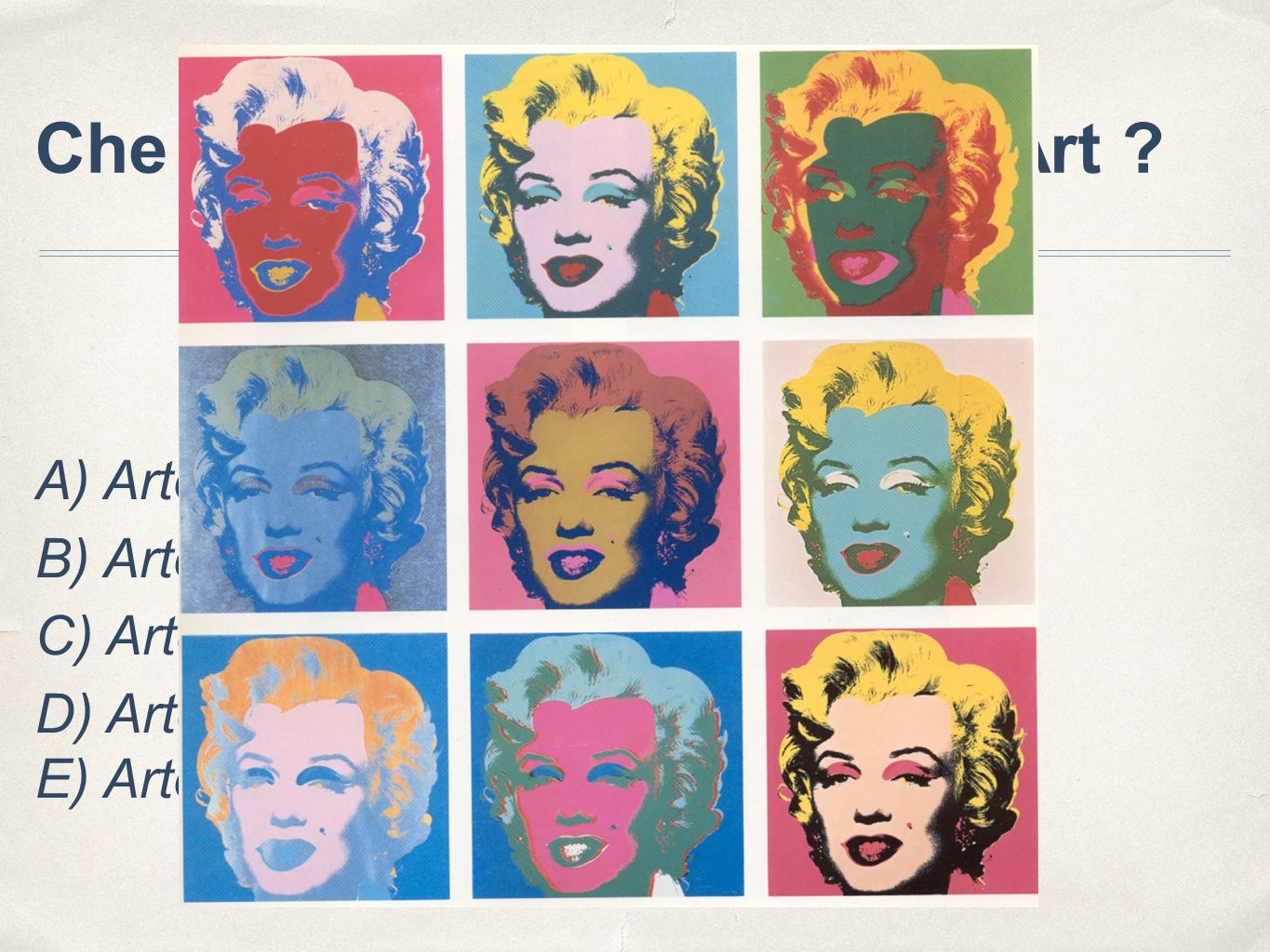 Che cosa si intende per Pop Art