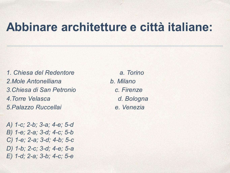 Abbinare architetture e città italiane: